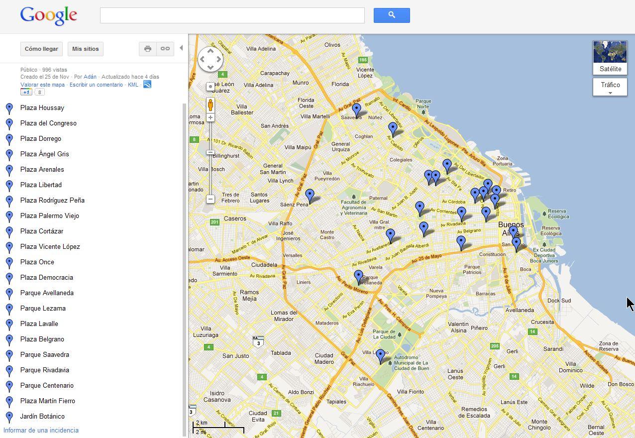 21 plazas y parques donde hay se al wifi en capital for Muebles baratos en capital federal